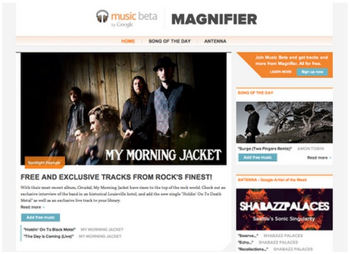 Google Unveils Music Discovery Site 'Magnifier' - Google Magnifier, Google Music Beta, The Official Google Blog, music discovery sites, My Morning Jacket