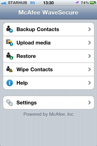 McAfee Releases WaveSecure App for iOS Devices - McAfee WaveSecure iPhone