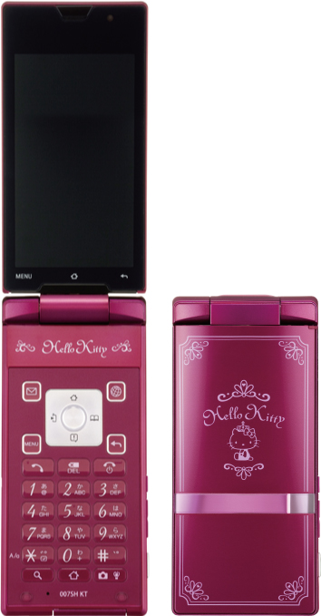 Softbank Unveils Hello Kitty Android Smartphone - Hello Kitty Android phone, Android smartphone, Softbank 007SH