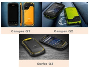 Zoom Technologies Unveils First IP68-Certified Android Smartphones - IP68 certification, Camper Q1, Camper Q2, Surfer Q3