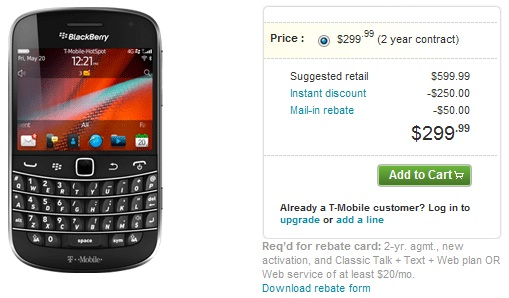 RIM releases BlackBerry Bold Touch 9900 on T-Mobile shelves - RIM, Research In Motion, BlackBerry Bold Touch 9900, BlackBerry, T-Mobile