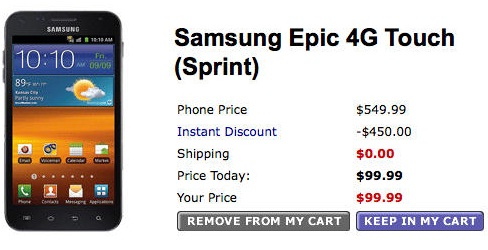 Samsung Galaxy S II 'Epic 4G Touch' Walmart preorders only $99
