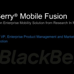 RIM Offers Android, Apple Security With BlackBerry Mobile Fusion