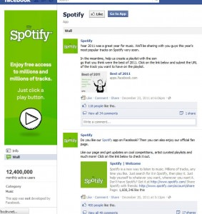 Spotify-facebook-app