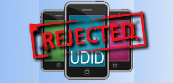 appl-rejects-udid