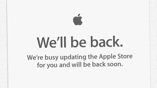 Apple Store, down, update, new hardware,