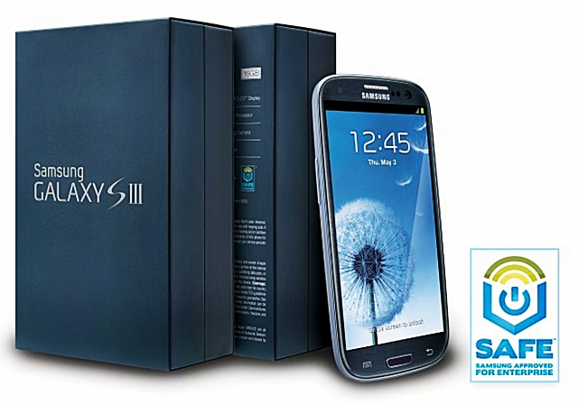 SAFE, Samsung, Samsung Approved for Enterprise, SAFE Galaxy S III, US, 