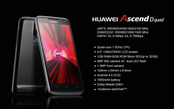 Huawei Will Hold Off 'Ascend D Quad' Until October This Year