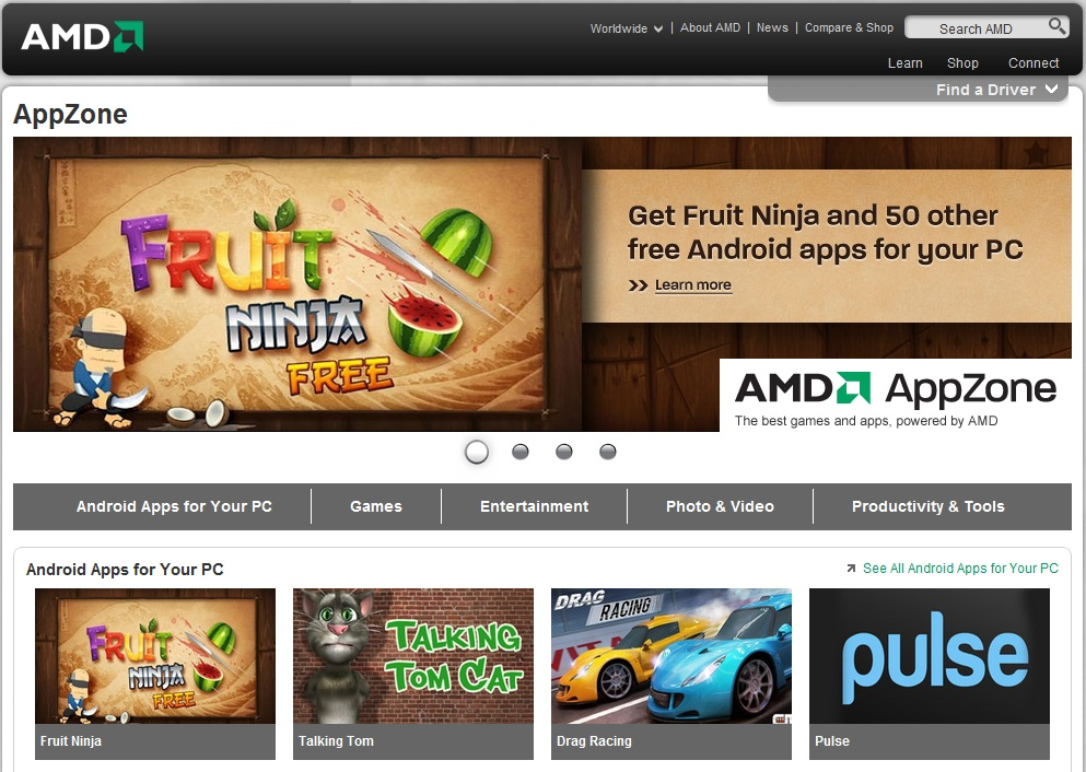 AMD Launches AppZone To Bring Graphics-Accelerated Windows and Android Apps to PCs Worldwide