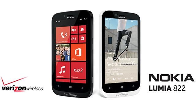 Lumia 822, Nokia, Verizon, smartphone, announcement, availability, price, specifications,