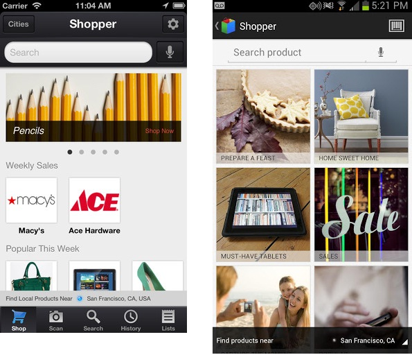 Google Shopper 3.0 for Android and iOS Now Available