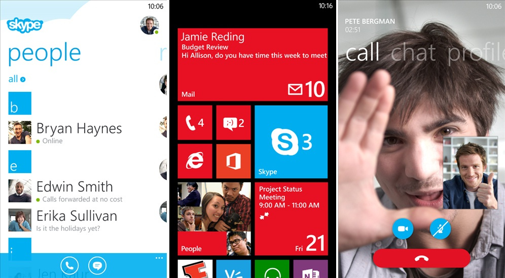 Skype for Windows Phone 8 Preview Now Available