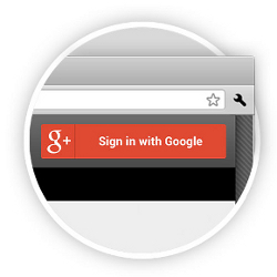 Google+ sign-in button