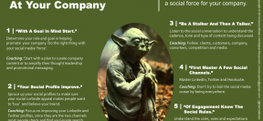 Being a &quot;social media jedi&quot; can be done in 5 steps as suggested by Gerry Moran. (Image: via business2community.com)