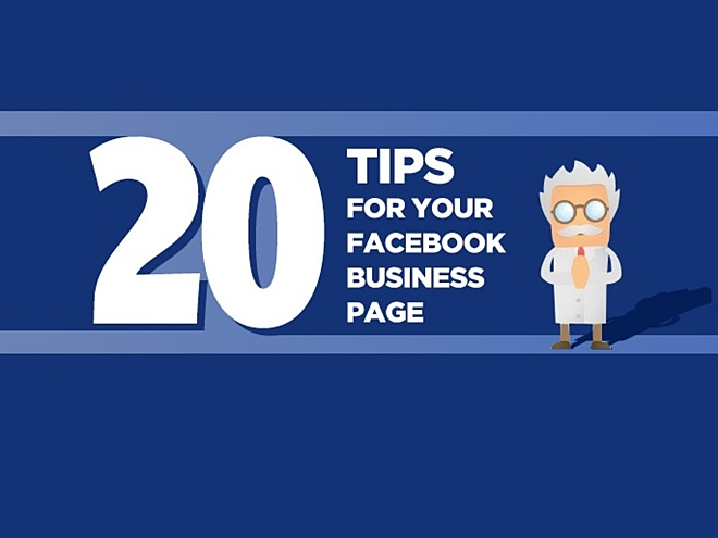 Business page, Facebook, tips, infographic,