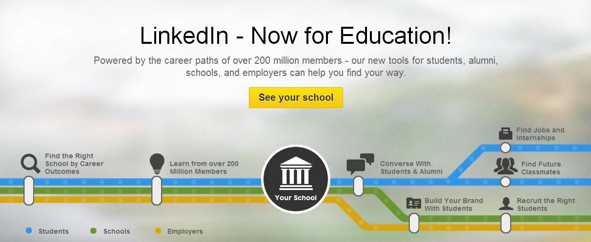 linkedin university pages hub