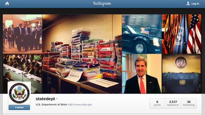 US State Department, Instagram