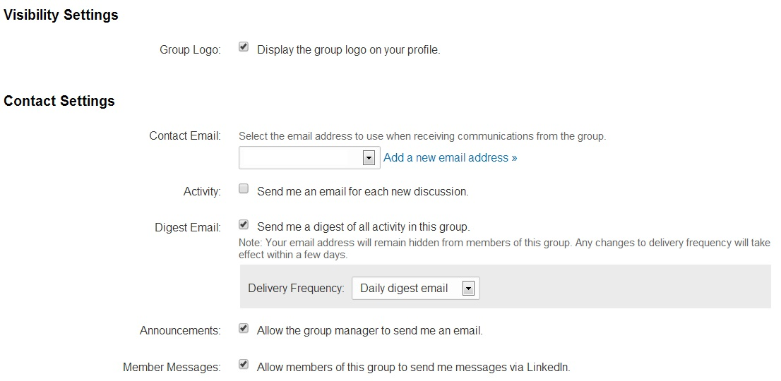 linkedin groups visibility settings