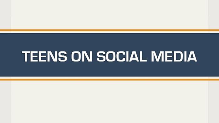 Social media, teens, Facebook, infographic,