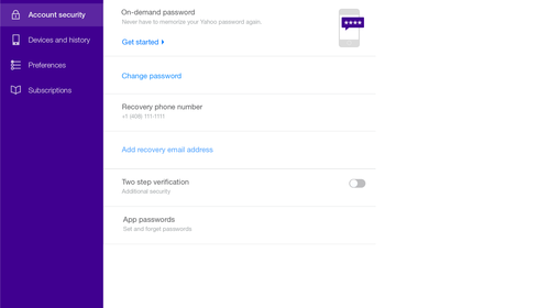 Yahoo Introduces A New Service Called On-Demand Password