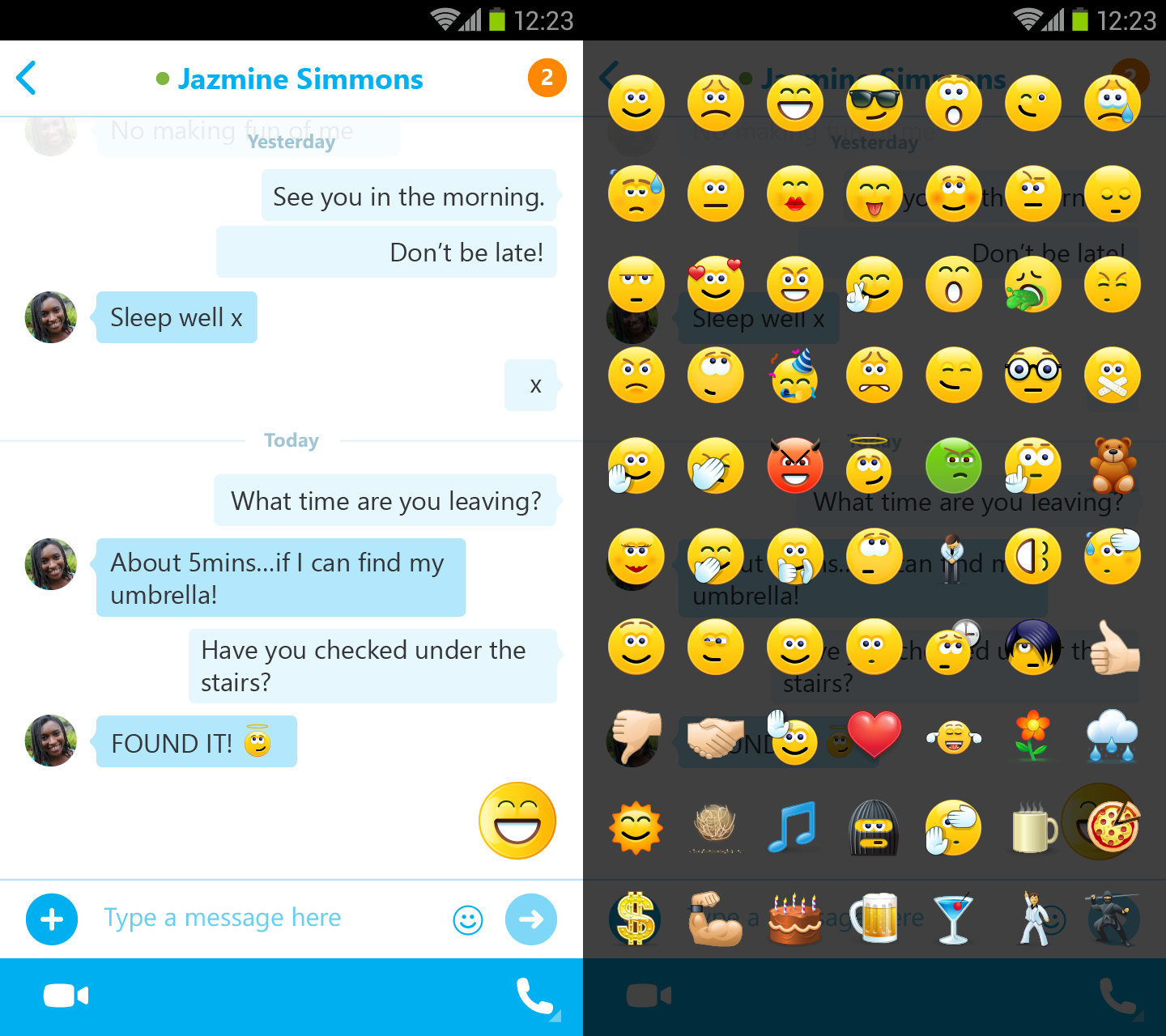 Skype For Android Gets New Chat Bubble Design And Emoji Design