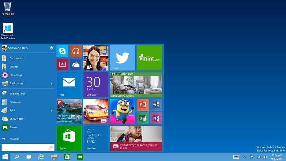 Windows-10 start