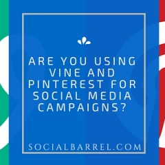 Vine and Pinterest for Social Media Campaigns – Are You Using Them?