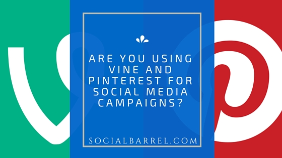 Vine and Pinterest for Social Media Campaigns