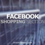 Facebook shopping section