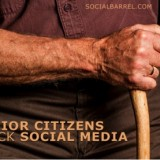 Senior citizens flock over social media