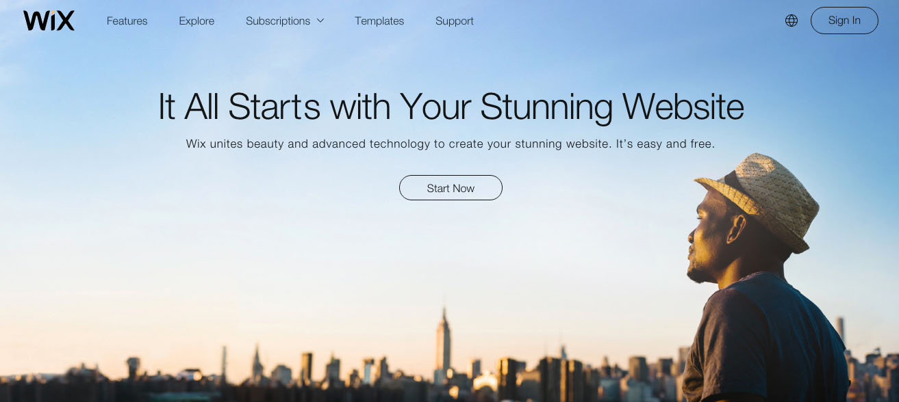 Wix - Top Website Builders To Build Your Own Site In 2017