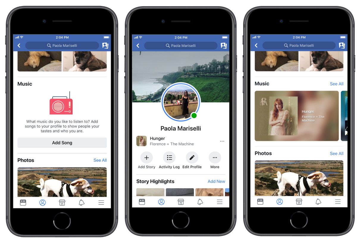 Facebook Adds Music Features To Profile And Stories