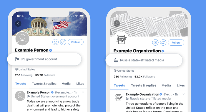 twitter labels state-affiliated media