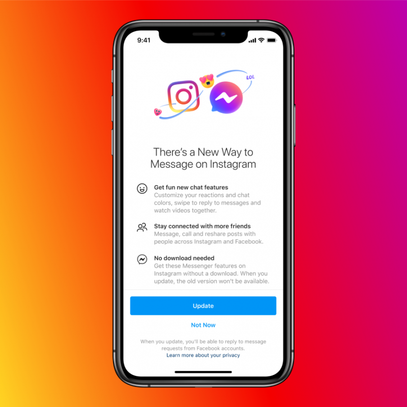 Cross-Platform Messaging on Instagram and Messenger is Now Available