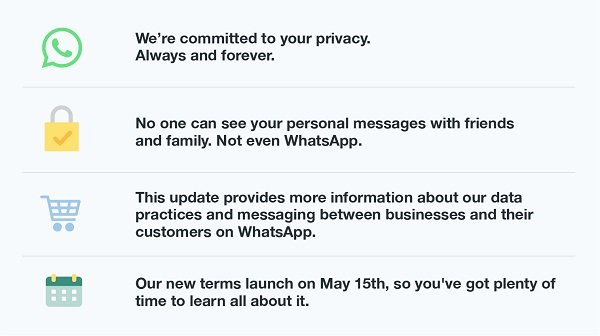 whatsapp terms of service update