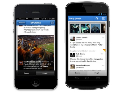 Twitter Updates Mobile Apps For iPhone and Android
