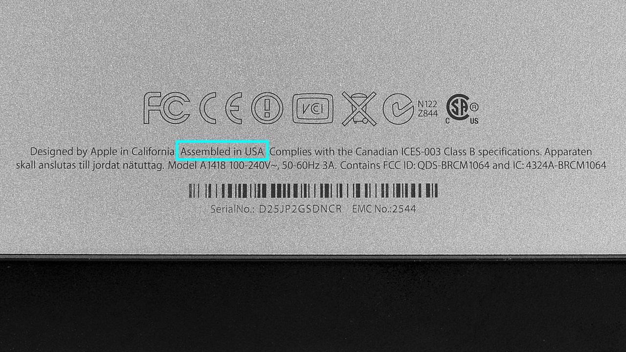 iMacs, Assembled in USA, Apple,