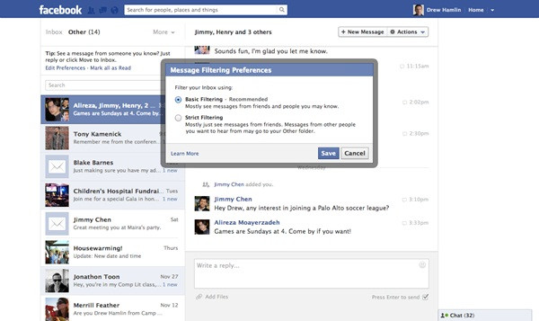 On Paid Facebook Messages And Free Emailing Services