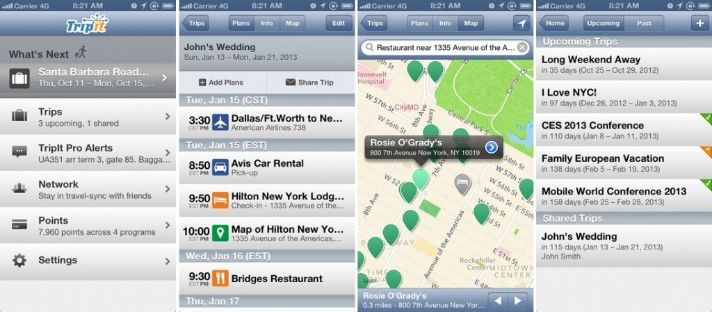 TripIt for iPhone