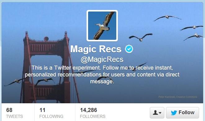 twitter magic recs