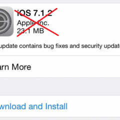 Apple Just Stopped Supporting iOS 7.1.2