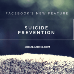 Facebook's Effort in Lowering the Number of People Committing Suicide