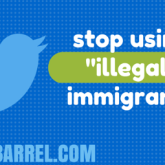 """Twitter Bot Correcting the Phrase """"Illegal Immigrants"""""""