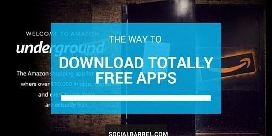 Amazon Underground – Apps are Totally Free