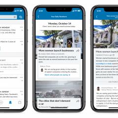 LinkedIn's Daily Rundown news briefs wears a new look