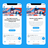 Twitter's new misinformation notices have started showing up for users in the US