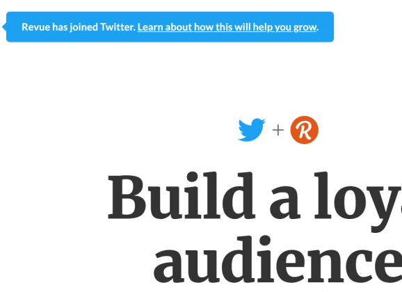 Twitter acquires writing platform Revue