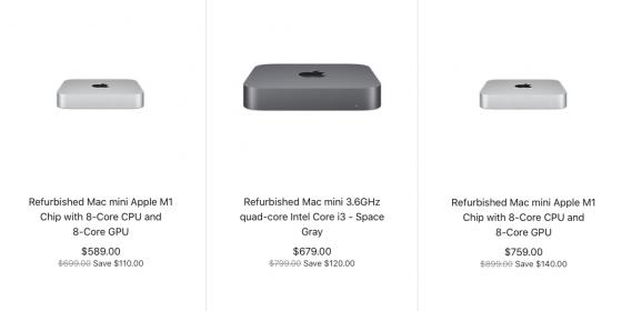 Apple Starts Selling Refurbished M1 Mac Mini Models