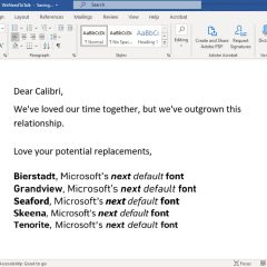 Microsoft Breaking Up with Calibri After Nearly 15 Years
